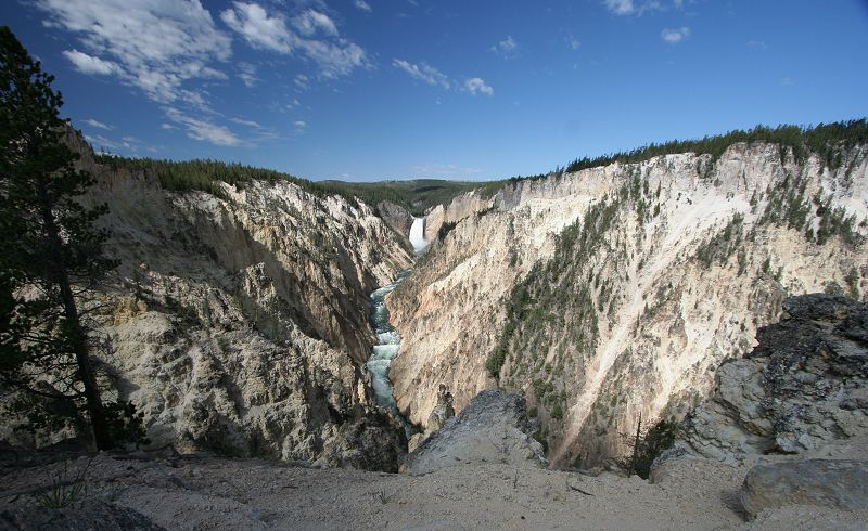 le canyon depuis artist view
